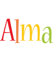Alma birthday logo