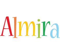 Almira birthday logo