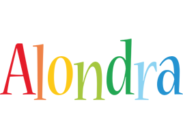 Alondra birthday logo
