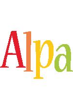 Alpa birthday logo