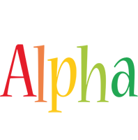 Alpha birthday logo