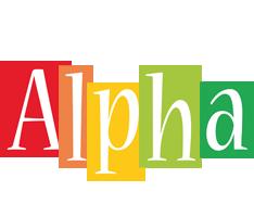 Alpha colors logo