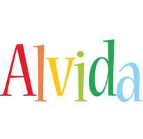 Alvida birthday logo