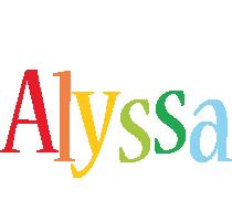 Alyssa birthday logo