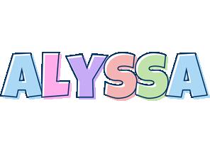Alyssa Logo   Name Logo Generator - Candy, Pastel, Lager ...
