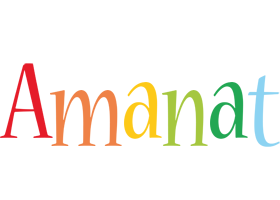Amanat birthday logo