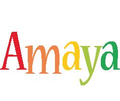 Amaya birthday logo