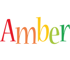 Amber birthday logo