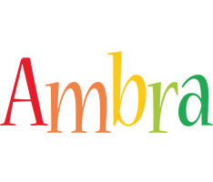 Ambra birthday logo