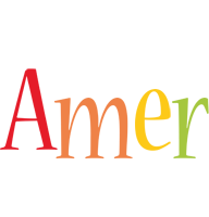 Amer birthday logo