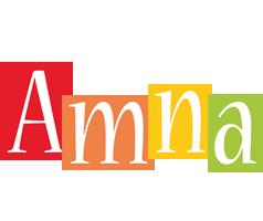 Amna colors logo