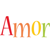 Amor birthday logo