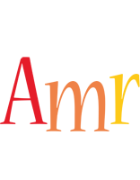 Amr birthday logo