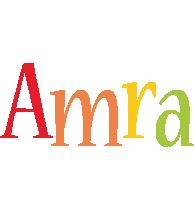 Amra birthday logo