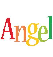 Angel birthday logo