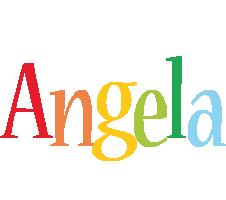 Angela birthday logo