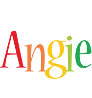 Angie birthday logo