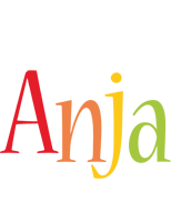 Anja birthday logo