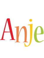 Anje birthday logo