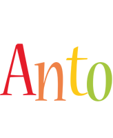 Anto birthday logo