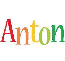 Anton birthday logo