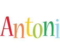 Antoni birthday logo