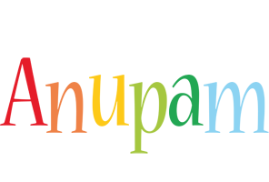 Anupam birthday logo