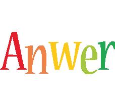 Anwer birthday logo