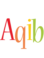 Aqib birthday logo