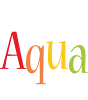 Aqua birthday logo