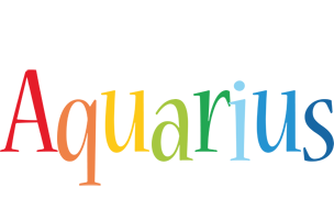 Aquarius birthday logo