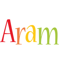 Aram birthday logo
