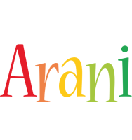 Arani birthday logo