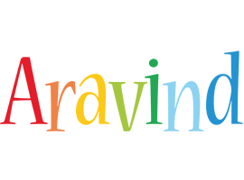Aravind birthday logo