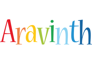 Aravinth birthday logo