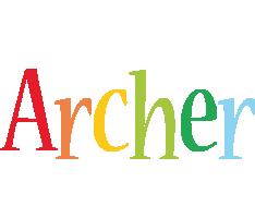 Archer birthday logo