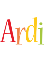Ardi birthday logo