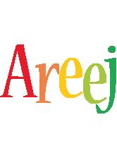 Areej birthday logo