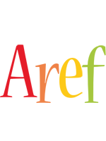 Aref birthday logo