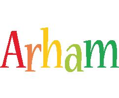 Arham birthday logo