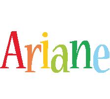 Ariane birthday logo