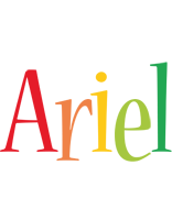 Ariel birthday logo