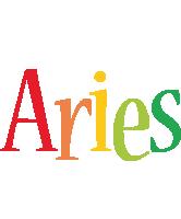 Aries birthday logo