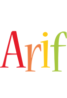 Arif birthday logo