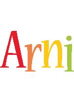 Arni birthday logo