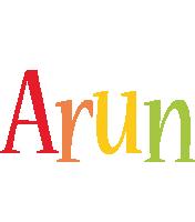 Arun birthday logo