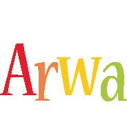 Arwa birthday logo