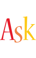 Ask birthday logo