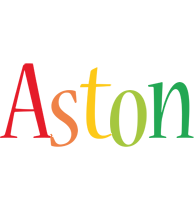 Aston birthday logo
