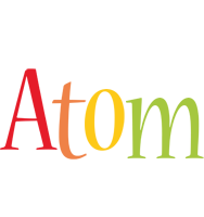 Atom birthday logo